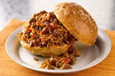 Discover an unbeatable dish with our Easy Sloppy Joe Recipe. This Easy Sloppy Joe Recipe is a quick dish that adds bacon and cheese to the beefy goodness. Kraft Foods, Kraft Recipes, Beef Recipes, Soup Recipes, Cooking Recipes, What's Cooking, Beef Meals, Bbq Sloppy Joe Recipe, Salsa Barbacoa