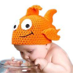 Günstige Neue Goldfisch Baby Handgemachte Gestrickte Häkelarbeit…