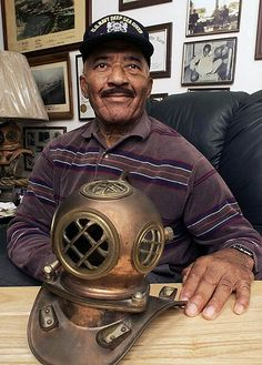 Master Chief Petty Officer Carl Brashear - First African American and amputee to attain the rank of Master Diver. United States Navy.