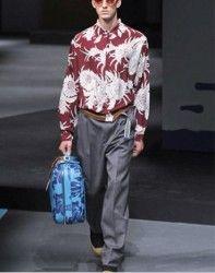 collezione moda uomo Prada primavera estate 2014 camicia bordeaux