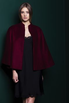 Beautiful cape made of burgundy soft blend of wool and silk. Perfect for a dinner date <3   #cape #coat #burgundy #wine #2016 # #kimonoinspired #kimono