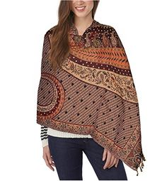 Brown Base Multicolor Floral Print Wool Shawl