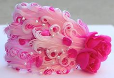 Hot Pink Cabaret white and pink  Nagorie Feather by Hairfetti, $14.00