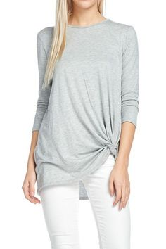 Tunic Top with Knot Detail