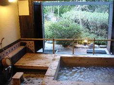 Japanese Onsen :) Which is a natural Hot Spring Bathhouse. :D