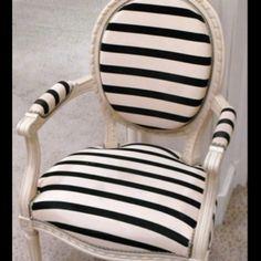 Stripe fabric chair