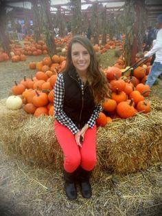 Fall pumpkins vest love