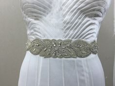 A personal favourite from my Etsy shop https://www.etsy.com/in-en/listing/386942576/handmade-wedding-belt