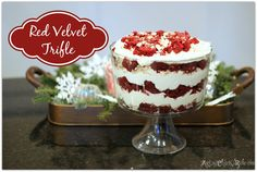 "Red Velvet Trifle Recipe Modified!! Check out the ""new addition"" YUM"