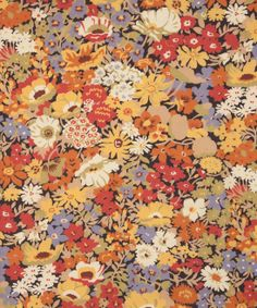 Liberty Art Fabrics Flowers of Thorpe Linen Union in Autumn Bloom Liberty of London is everything my hopes and dreams are made of. Liberty Art Fabrics, Liberty Print, Cute Backgrounds, Ditsy Floral, Textile Prints, Textiles, Vintage Flowers, Floral Watercolor, Fabric Flowers