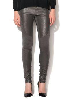 Colanti piele ecologica dama cu insertii bumbac gri Leather Pants, Fashion, Templates, Leather Jogger Pants, Moda, Fashion Styles, Lederhosen, Leather Leggings, Fashion Illustrations
