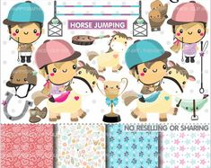 80%OFF - Horseback Rider Cliparts, Horseback Rider Graphics, COMMERCIAL USE, Horse, Planner Accessories, Pony, Derby, Trophy, Cute