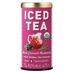 Organic Black Currant Rosemary Large Iced Tea Pouches