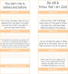 13 printable fear and doubt busting scriptures compiled by the Women Leading Women facebook group launched by @Holley Gerth.