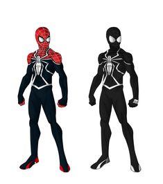 Spider-Man version) by shorterazer on DeviantArt Spiderman Suits, Spiderman Costume, Spiderman Art, Amazing Spiderman, Marvel Art, Marvel Heroes, Ultimate Batman, Batman Drawing, Avengers Characters