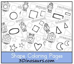 Free printable Shape Coloring Pages