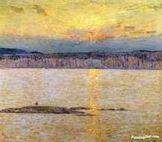 Sunset: Ironbound, Mr. Desert, Main Artwork by Frederick Childe Hassam Hand-painted and Art Prints on canvas for sale,you can custom the size and frame