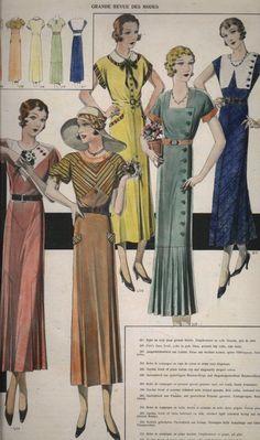 Bildresultat för Vintage Catalog for Dresses in the 1930s Fashion, French Fashion, Art Deco Fashion, Victorian Fashion, Retro Fashion, Vintage Fashion, Gothic Fashion, British Fashion, Ladies Fashion