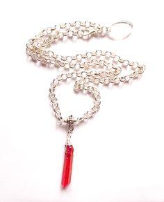 Halsband med Aura kristall från http://ladyofthelake.se  #smycken #halsband #kristall #shopping