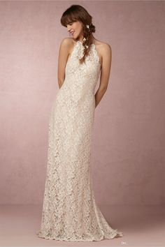 Bhldn 2016 Summer Beach Wedding Dresses With Halter Neck And Sleeveless Fully Lace Bridal Gowns Custom Vestidos De Novia Gowns Dress Hollywood Wedding Dresses From Uniquebridalboutique, $119.6| Dhgate.Com
