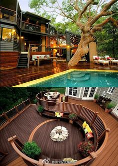decoration ambient home house. love the tree. Design by http://freefacebookcovers.net