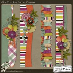 Give Thanks - Border Clusters :: Page Edges :: Embellishments :: SCRAPBOOK-BYTES