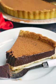 Fudgy Dark Chocolate Tart, a rich and decadent chocolate dessert recipe, perfect for Valentine's Day. Easy to make, and really delicious. Hot Chocolate Fudge, Best Chocolate Desserts, Decadent Chocolate, Chocolate Ganache, Chocolate Lovers, Trifle Desserts, Great Desserts, Delicious Desserts, Dessert Recipes