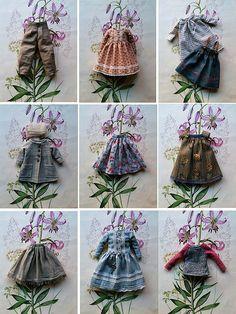 :: Crafty :: Doll :: Clothes :: for tomorrow scalloped collar for sewing scale doll dresses for sale Sewing Doll Clothes, Crochet Doll Clothes, Sewing Dolls, Knitted Dolls, Doll Clothes Patterns, Doll Patterns, Moda Barbie, Fairy Clothes, Tiny Dolls