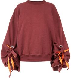 Y Project Burgundy Balloon Sleeve Sweatshirt