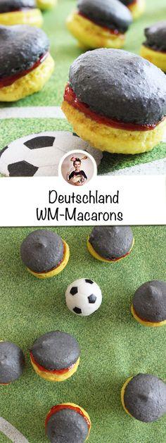 EM-Party-Alarm! Ihr sucht noch ein ausgefallens Wm Party Rezept. Da habe ich etwas für euch ... meine Deutschland WM-Macarons . #WM2018 #macarons #wmpartyrezepte #wmrezepte