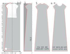 Очень простая выкройка платья - футболки