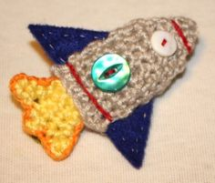"Free pattern for ""Pocket Rocket Applique""Badge""!"