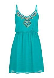 embroidered front gauze dress - maurices.com