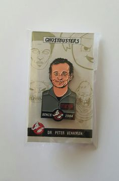 GHOSTBUSTERS 1984 BILL MURRAY PETER VENKMAN ENAMEL PIN  AVAILABLE ON AMAZON, ETSY, EBAY