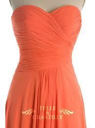 orange bridesmaid dresses - Google Search