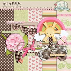 Quality DigiScrap Freebies: Spring Delight mini kit freebie from Boutique Cute Doll