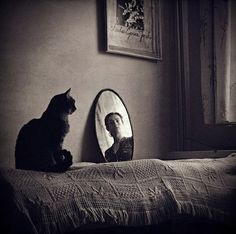 "secretcinema1: "" Self Portrait with Cat, 2009, Gosia Janik """