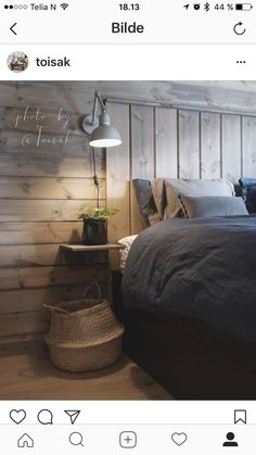 like the built in headboard, shelf and light Cozy Bedroom, Dream Bedroom, Master Bedroom, Farmhouse Flooring, Fashion Room, Interior Design Living Room, Living Spaces, House Design, Decoration