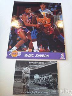 Magic Johnson Signed Los Angeles Lakers 8x10 Photo