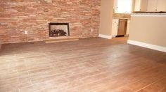 BuildDirect – Porcelain Tile - Rustic Handscraped Woodgrain Collection – Atlas - Living Room View