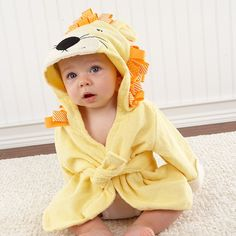 Lion Hooded Spa Robe by Baby Aspen - Personalize It!