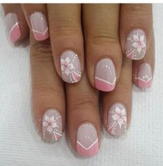 Nail art Christmas - the festive spirit on the nails. Over 70 creative ideas and tutorials - My Nails Flower Nail Designs, Colorful Nail Designs, Cool Nail Designs, Spring Nails, Summer Nails, Cute Nails, Pretty Nails, Violet Pastel, Nail Art Noel