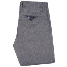 Ted Baker Stalchi Slim Fit Linen Blend Trousers, Charcoal.