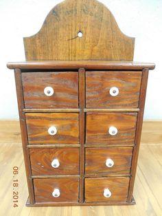 Antique Spice Cabinet