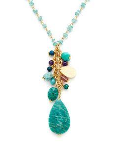 Rachel Reinhardt Multi Stone Pendant Necklace