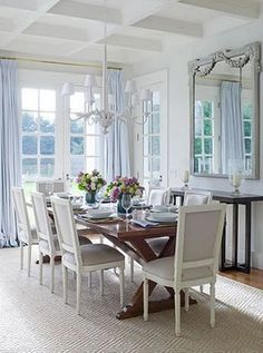 Even though my style is not this luxe, I'd like to have a hint of it in my home styling, maybe with the chairs or the chandelier