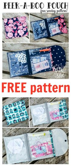 FREE Peek-A-Boo pouch sewing pattern. Download this FREE pattern and use basic skills to make this fat quarter friendly project.