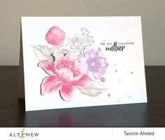 Floral mother's day card using Garden Treasure stamp set. www.altenew.com
