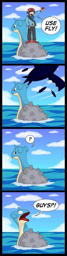 Poor Lapras, left alone for good.
