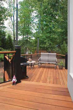 Hardwood deck designed and built by Atlanta Decking & Fence.